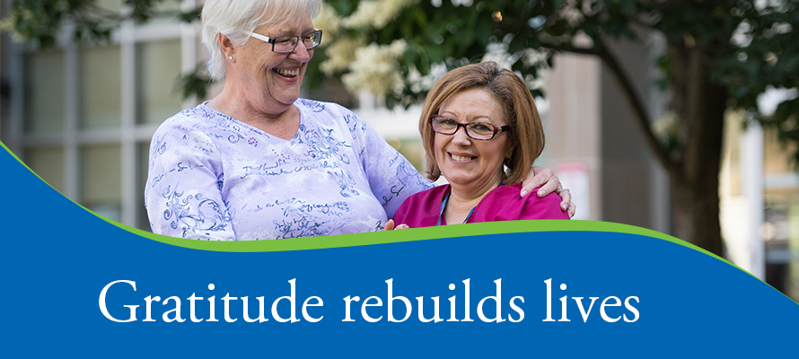 Gratitude rebuilds lives